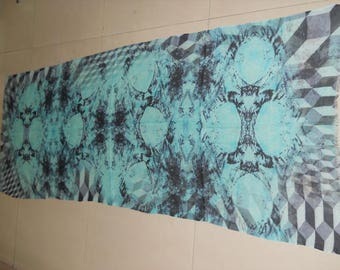 Digital Printed Cashmere Cotton Modal Scarf