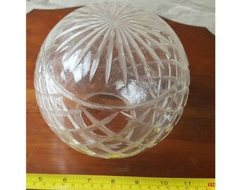 Antique Original  Spherical Crystal Glass Lamp Shade