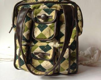Vintage Corduroy Argile School-College Bag | Travel | Shoulder Bag | Diaper Bag