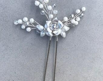 Hair Pin, Accessory, Wedding Accessories, Formal Hair Accessory, Beaded Hair Pin