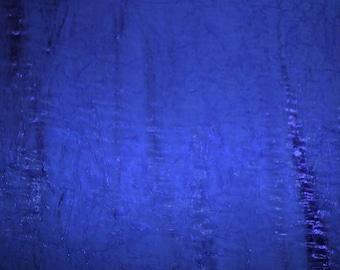 Satin Fabric- Crinkle Satin in Catalina Blue