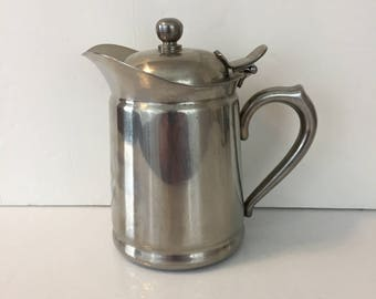 Brandware Stainless Steel Small Teapot, Coffee, Hot Chocolate... Made in Japan Original Patent
