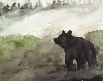 The Bear at dusk postcard