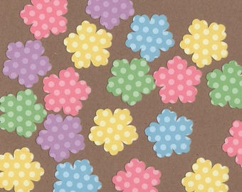 "35 - 1 1/2"" Pastel Flower Die Cuts for Paper Crafts Set 4"