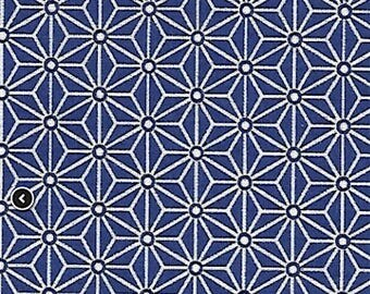 Saki fabric - Japanese - fabric fabric star Asanoha - Navy blue fabric - 100% cotton Oeko Tex - Nadège fabrics - 1/2 meter