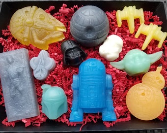 STAR WARS Soap Gift Set / Choose Your Side...Team R2, Team Vader or the COMPLETE Saga! / Gluten Free / Organic / Oh So Cool!
