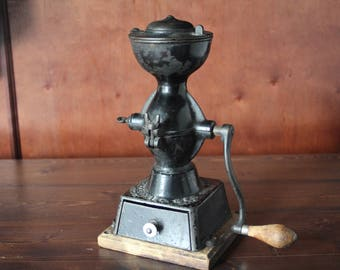 Antique Coffee Grinder, farmhouse coffee decor, kitchen decor, Enterprise upright Coffee Grinder Patent 1873, ON SALE!