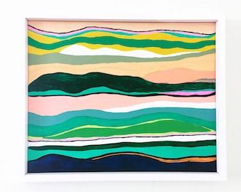 abstract landscape sunset painting original canvas art
