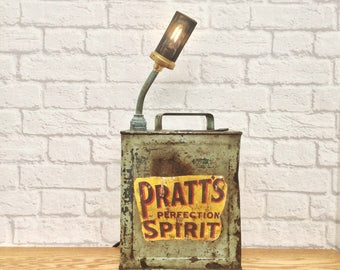 Industrial Decor, Industrial Lighting, Man Cave Decor, Vintage Petrol Can Lamp, Mechanic Gift, Industrial Style, Urban Decor, Gift For Him