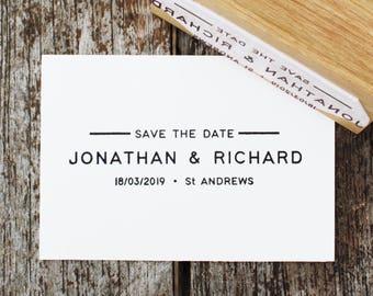 Wedding invitation stamp, Invitation stamp, modern wedding invitation, DIY wedding invitation, save the date stamp, announcement stamp