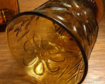 Libbey Glass 15 oz cooler, country garden (amber)