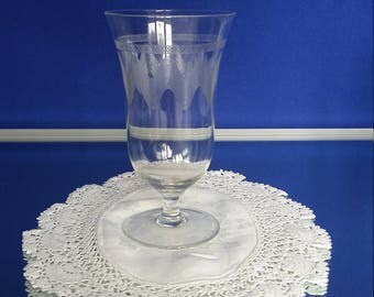 Set of 5 Engraved Tall Glasses