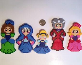 Cinderella Perler Bead Magnets
