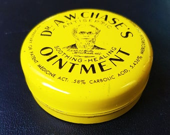 Antique Medicine Tin of Dr. A.W. Chase's Ointment Salve