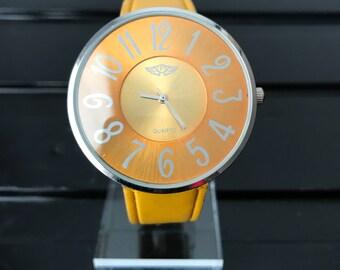 Prince London Large Face Yellow Watch