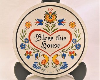 Vintage Zook hex sign, Bless this house, folk art,