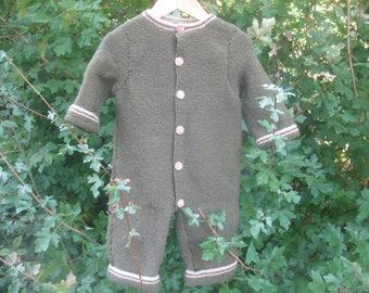 Combination pants 9 months khaki and beige and bonnet