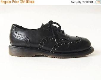 ON SALE Men's Black Leather Brogue Shoes Black Genuine Leather Casual Wingtip Oxford Shoes Men's Progressive Safety Work Shoes Size EUR 43 U