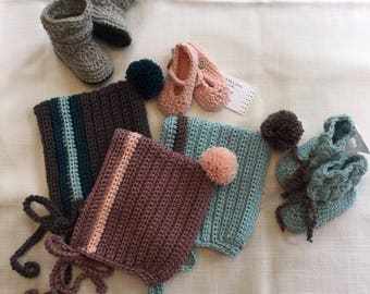 Wool Pixie Bonnet