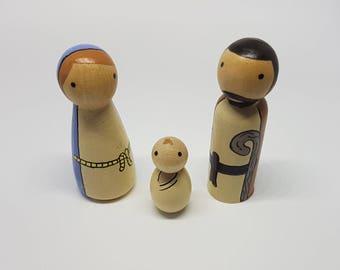 Nativity, Mary, Joseph and Baby Jesus. Children, Christmas