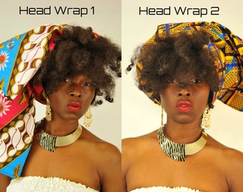 African Headwrap, African Print Head wraps, Ankara Headwraps