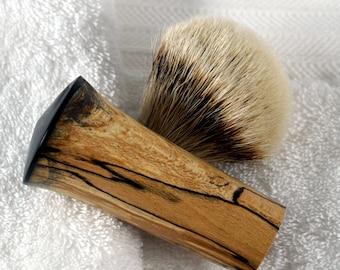 Shaving- Brush/shaving-brushes/ razor/ straight-razor/ shaving- soap/shaving mug/shaving/acrylic/Spatlted Beech and Ebony Acrylic/Beautiful