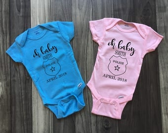 Cop baby, Law Enforcement Baby, Bring Baby Home Outfit, Coming Home Outfit, Gender Neutral Baby Shower Gift