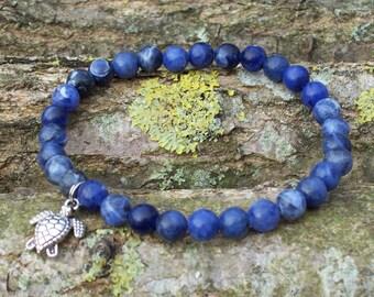 Mens Gemstone bracelet, Men bracelet, Gift for men, Men's bracelet, Boyfriend gift, Mens bracelet, Mens Gemstone bracelet, Sodalite bracelet