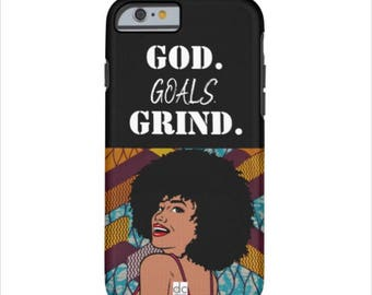 God, Goals, Grind Phone case