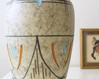 Large Mid Century vase, made by Scheurich, West Germany