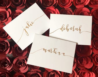 Custom Calligraphy Placecards