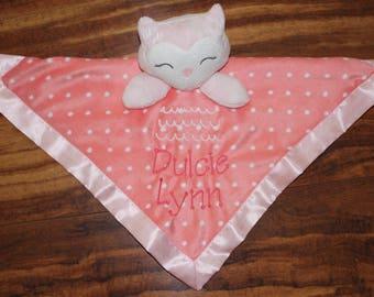 Security Blanket Baby Security Blanket Baby Announcement Blanket Announcement Blanket Baby Blanket New baby Blanket Baby Name blanket Kitty