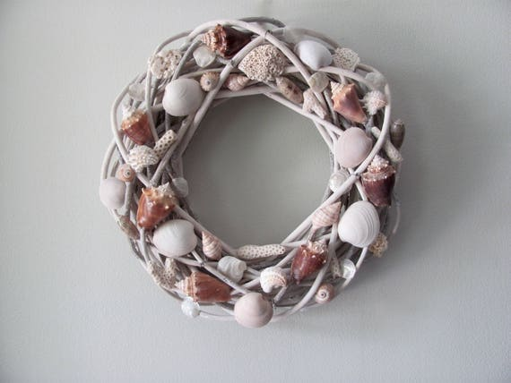 Seashell Wreath, Shell Wreath, Nautical Wreath, Coastal Wreath, Beach Decor, Beach Wedding, Beach House Decor, Coastal Chic Decor