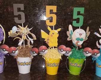 Set of 5 Pokemon Double-sided Centerpieces
