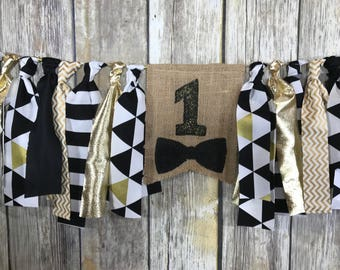 Bow tie High Chair Banner, First birthday banner boy, Bow tie Banner, high chair banner, Cake Smash Banner, Bow tie First Birthday