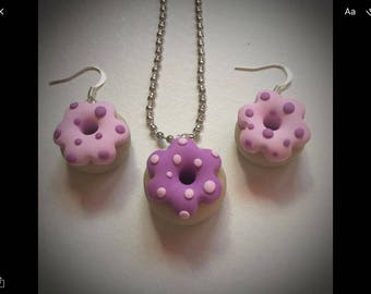 Set in polymer clay donut