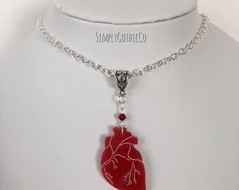 Collier coeur gothique de Saint-Valentin