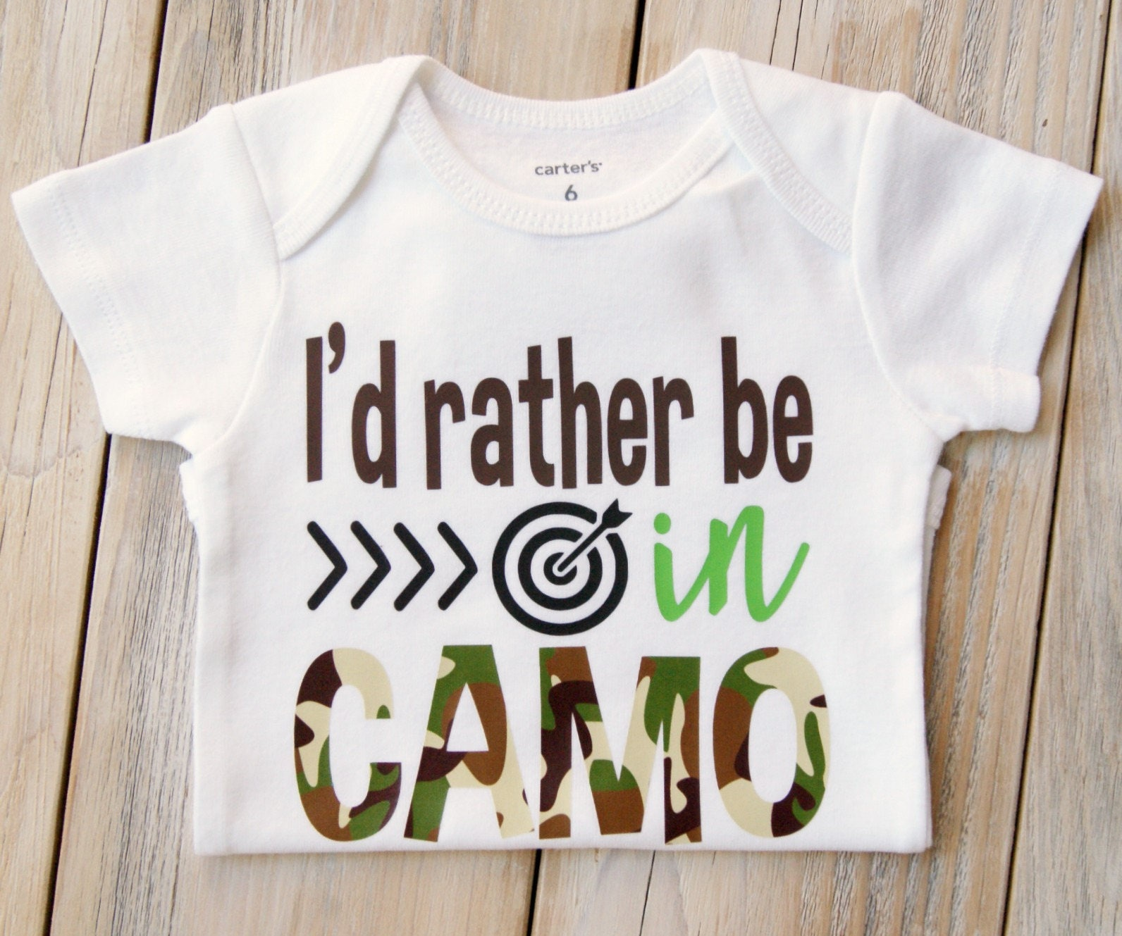 01b2bcd79 I'd Rather be in CAMO-Baby Girl or Boy Onesie-Baby Gift