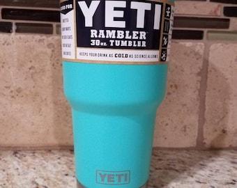 Sale Seafoam Green Teal Mint Green Yeti Cup 30 Oz Tumbler