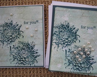 Handmade Birthday, Thinking of You, All Occasion  Greeting CARD KIT Made w/Stampin Up and Other Supplies