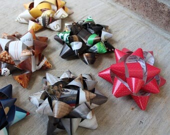 Handmade Gift Bows, 100% Recycled Material
