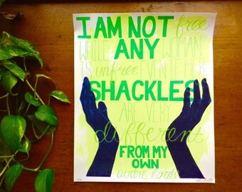 Different Shackles Protest Print