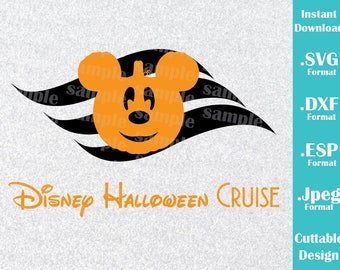INSTANT DOWNLOAD SVG Disney Inspired Disney Halloween Cruise Mickey Ears Cutting Machines Svg, Esp, Dxf and Jpeg Format Cricut Silhouette