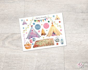 Camping Trip Stickers (GLOSSY)