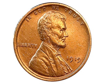 1919 P Lincoln Wheat Cent - Choice BU / MS / Unc