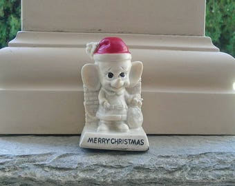vintage Russ Berrie Merry Christmas mouse figurine 1969 - Santa - poly resin figurine - Russ Berrie collectible - mouse collectible
