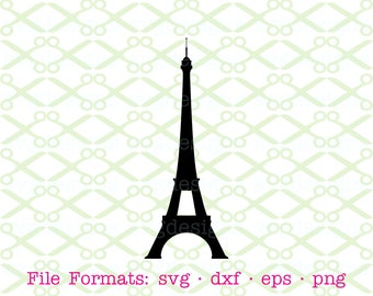 EIFFEL TOWER Svg, Dxf, Eps, Png. Sun Face Svg, Digital Files for Cricut, Silhouette; French Clipart, Paris, France, Eiffel Tower Silhouette