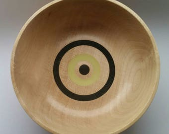 Sycamore Bowl with Inlay