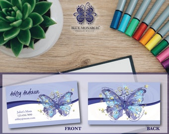 Blue Monarch® Mommy Business Cards, Calling Cards - Butterfly - Design & Printing!