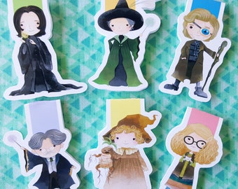 Wizard Professors Magnetic Bookmark Set